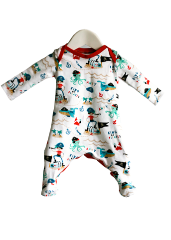 Organic Harem Babygrow Sleepsuit (Pirate King)