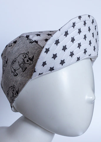 Child Cycling Cap (Rhino and Stars)
