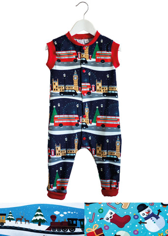 Organic Cotton Sleeveless Christmas Romper