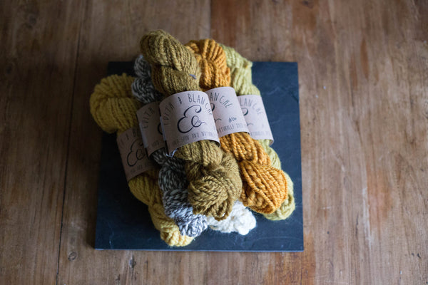 Hand spun Yarn- Butterscotch (solid)
