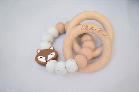Teething rattle - fox