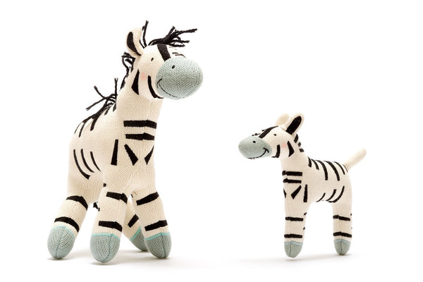 Organic Knitted Zebra small