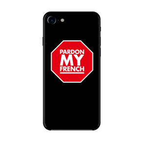 STOP SIGN PARDON MY FRENCH IPHONE CASE
