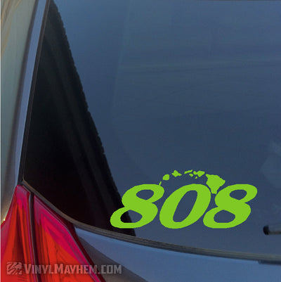 808 Hawaiian Islands vinyl sticker
