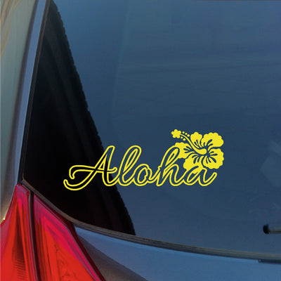 Aloha Hibiscus Flower vinyl sticker