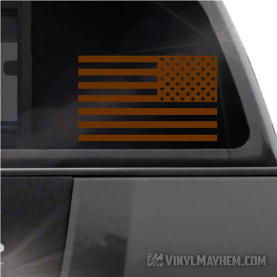 American Flag reversed vinyl sticker