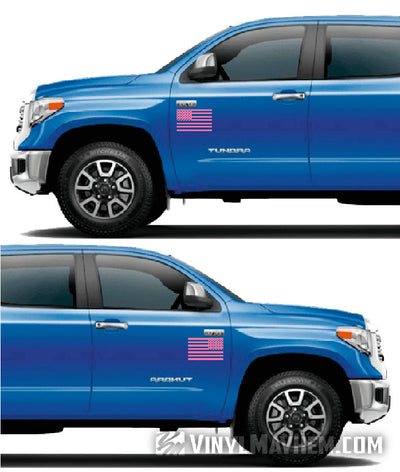 American Flag vinyl sticker directional set