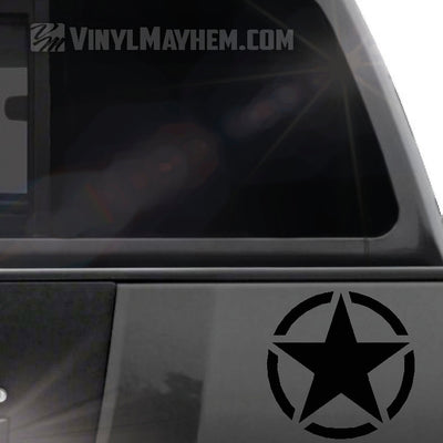 Army Star in circle vinyl sticker