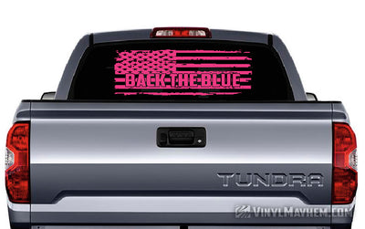 American flag Back the Blue distressed vinyl sticker