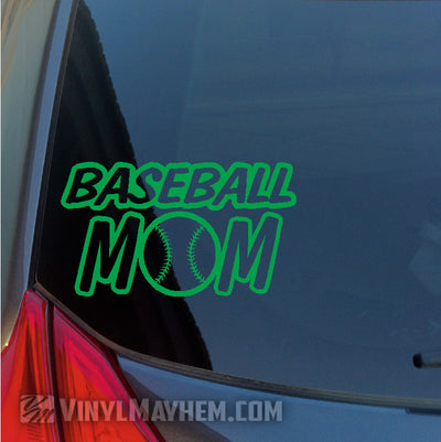 Baseball Mom vinyl sticker