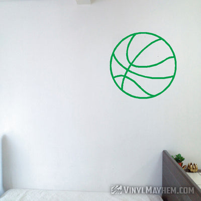 Basketball outline vinyl sticker
