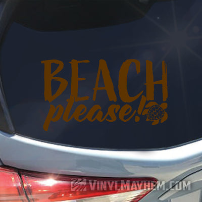 Beach Please with Turtle sticker