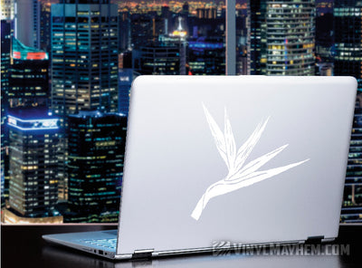 Bird of Paradise flower vinyl sticker