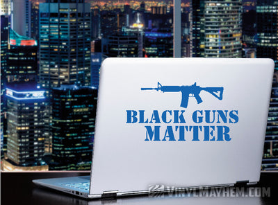 Black Guns Matter AR-15 rifle vinyl sticker