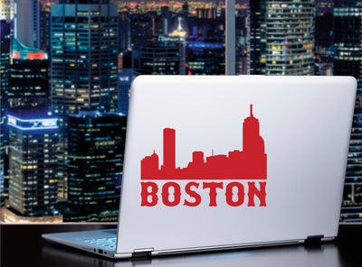 Boston cityscape vinyl sticker