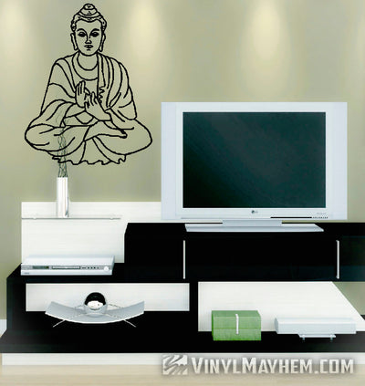 Buddha seated vinyl sticker