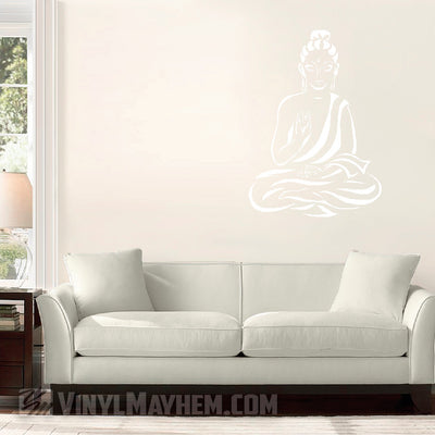 Buddha with robe off shoulder vinyl sticker