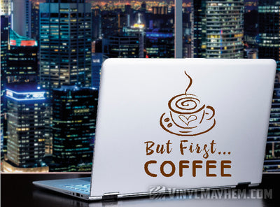 But First Coffee vinyl sticker