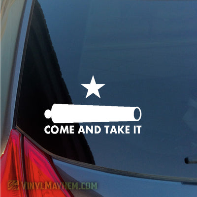 Come And Take It Cannon vinyl sticker