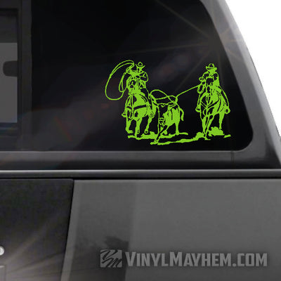 Cowboys Roping vinyl sticker