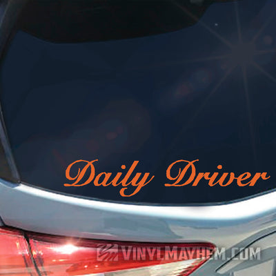 Daily Driver vinyl sticker
