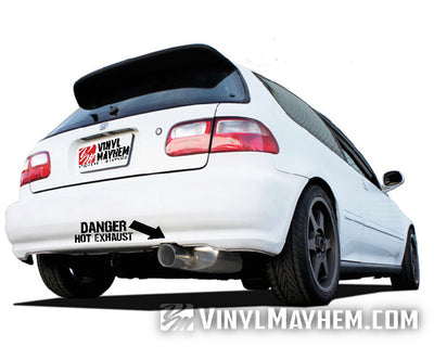 Danger Hot Exhaust vinyl sticker