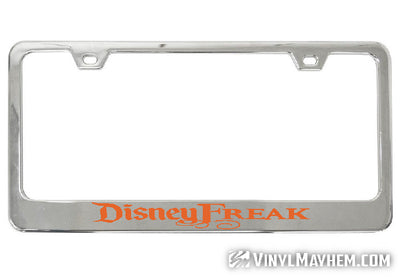 Disney Freak license plate frame
