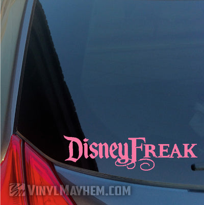 Disney Freak vinyl sticker