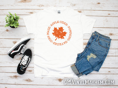 Fall distressed leaf T-Shirt