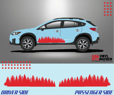 Forest Trees vehicle graphic kit