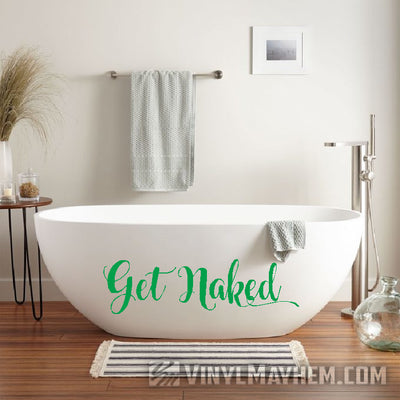 Get Naked bathroom laundry room vinyl sticker