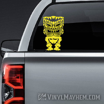 Hawaiian Tiki vinyl sticker