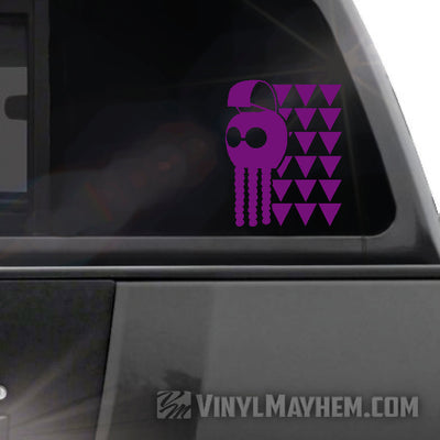 Hawaiian Warrior Helmet tribal Maka Ihe vinyl sticker