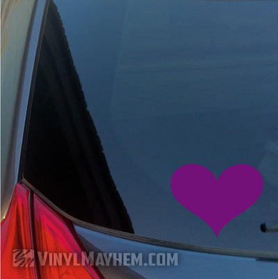 Heart vinyl sticker