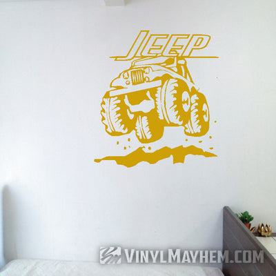 Jeep off-roading vinyl sticker
