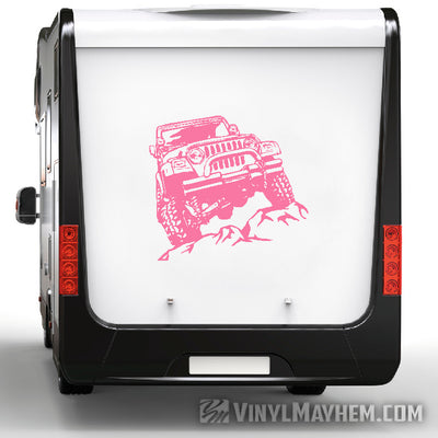 Jeep rock crawling vinyl sticker