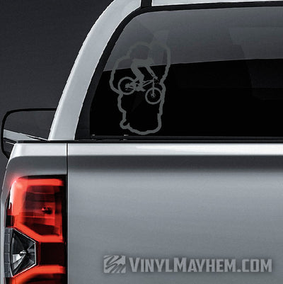 Lake Tahoe mountain biker vinyl sticker