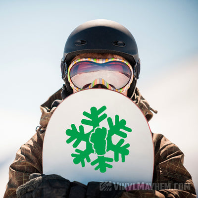 Lake Tahoe Snowflake with unique arms vinyl sticker