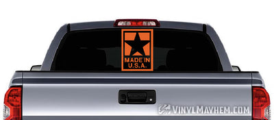 Made In USA big star vinyl sticker