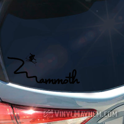 Mammoth skier vinyl sticker