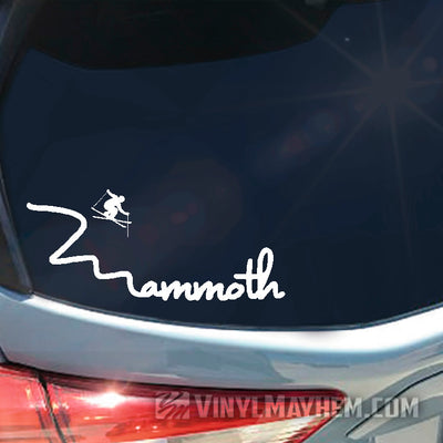 Mammoth ski vinyl sticker