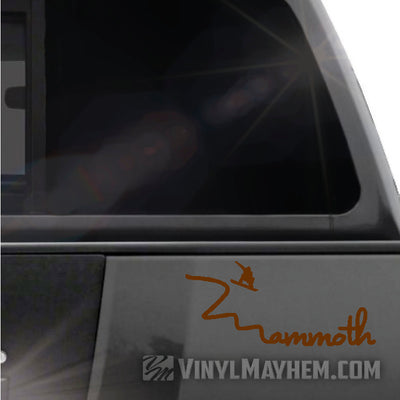 Mammoth snowboarder vinyl sticker