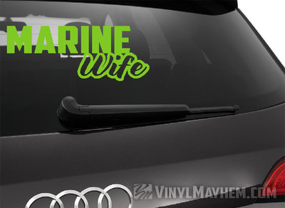 Marine Wife vinyl sticker