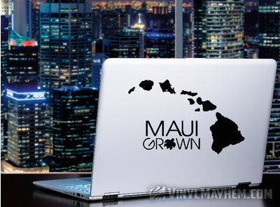 Maui Grown with Turtle Hawaiian vinyl sticker