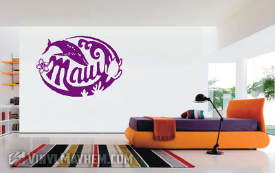 Maui Hawaii Humpback Whale vinyl sticker