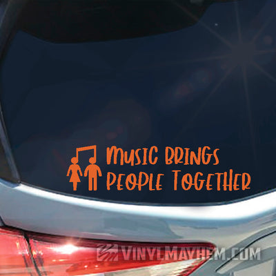 Music Brings People Together vinyl sticker