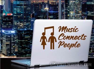 Music Connects People vinyl sticker