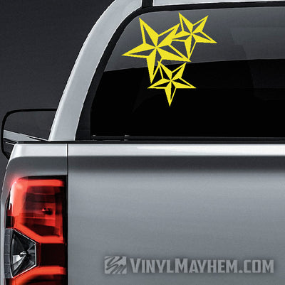 Nautical Star Cluster vinyl sticker