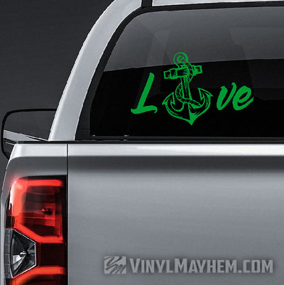 Navy Love vinyl sticker