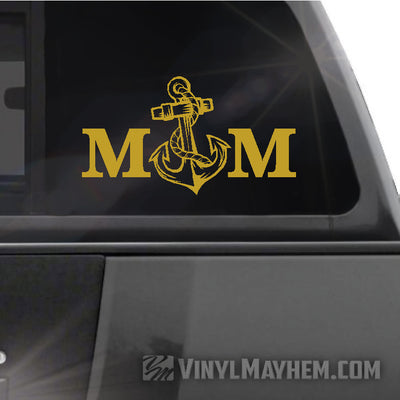 Navy Mom vinyl sticker